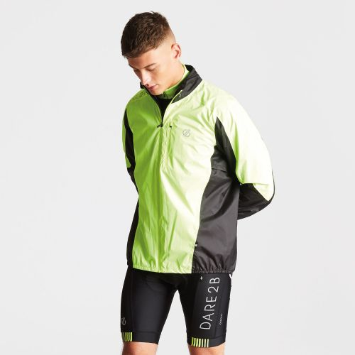Men's Mediant Lightweight Reflective Waterproof Shell Jacket Fluro Yellow Black